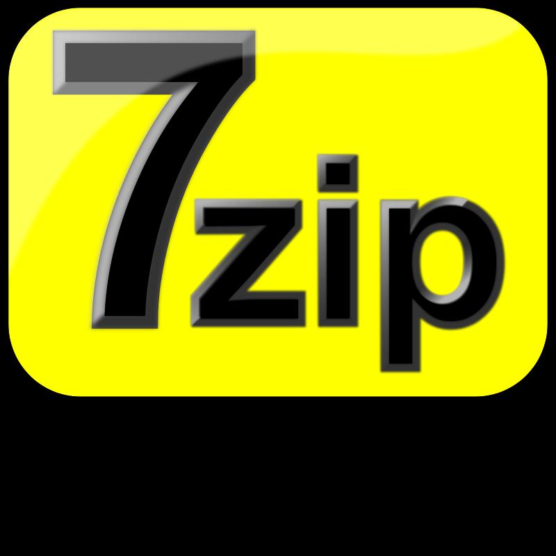 Free 7zip Glossy Extrude Yellow