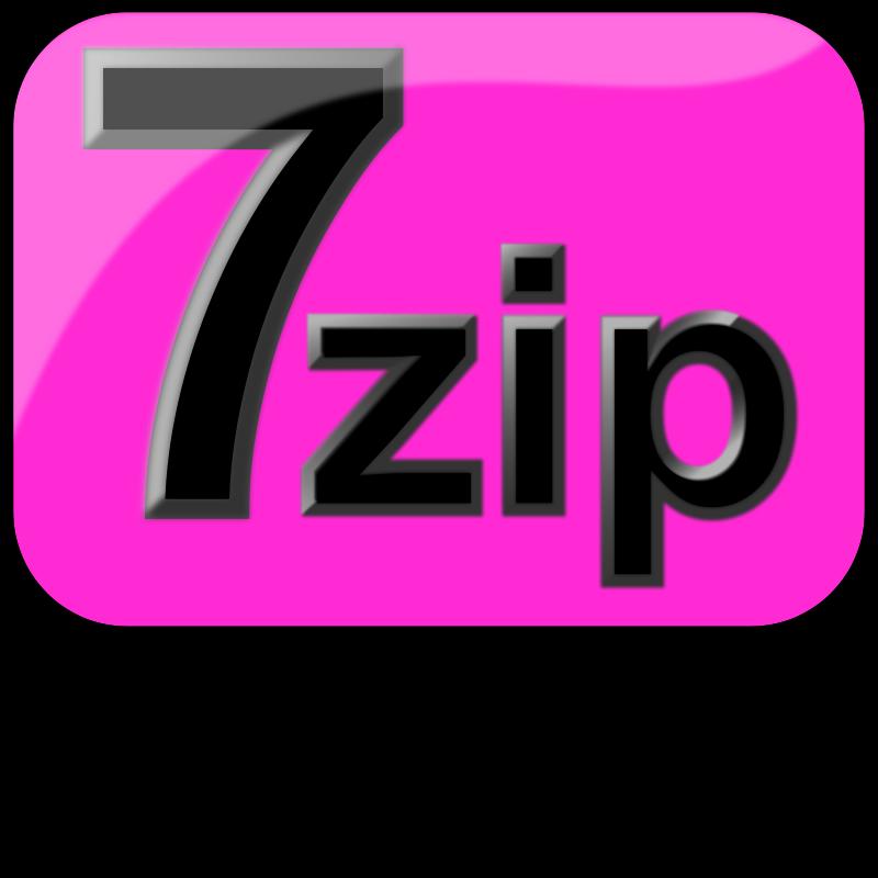 Free 7zip Glossy Extrude Magenta