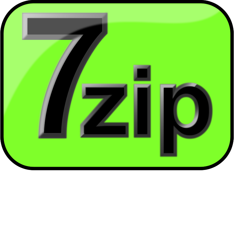 Free 7zip Glossy Extrude Green