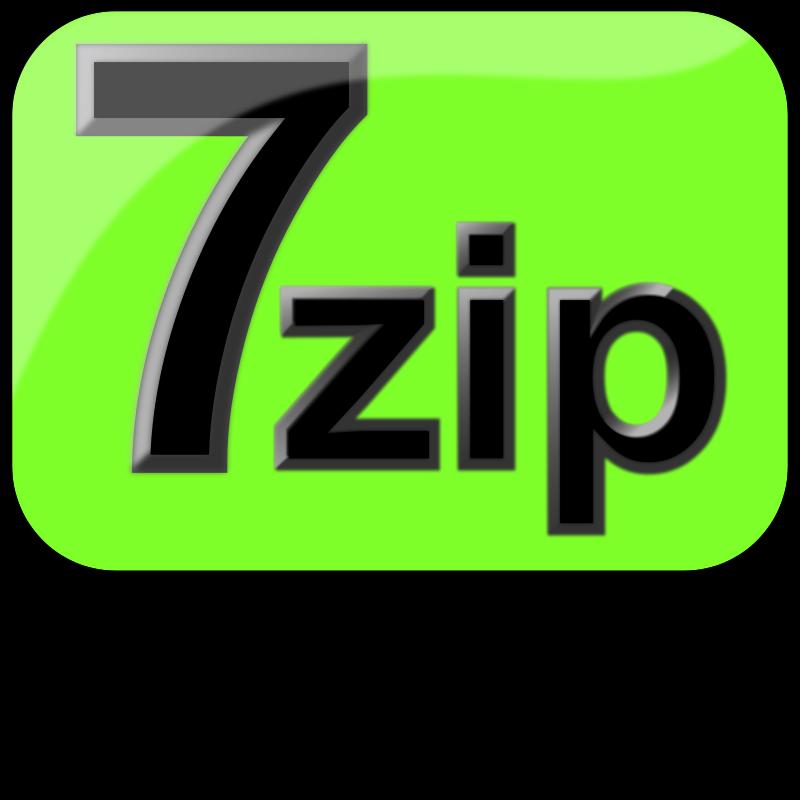 Free 7zip Glossy Extrude Green