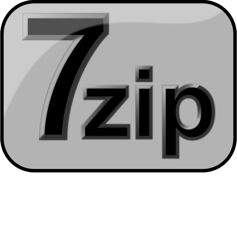Free 7zip Glossy Extrude Gray
