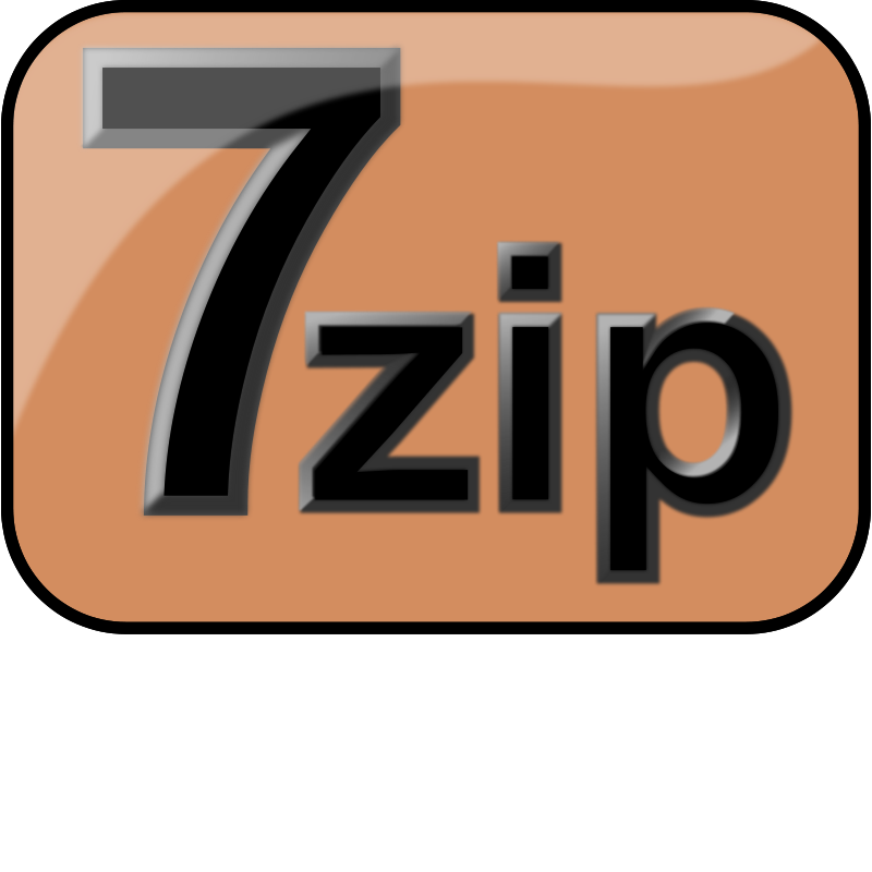 Free 7zip Glossy Extrude Brown