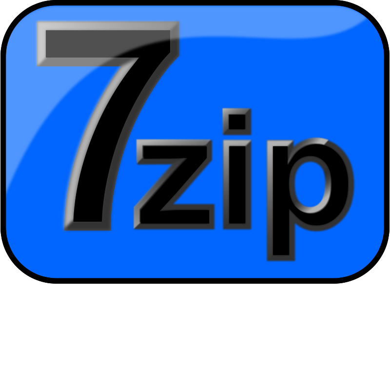 Free 7zip Glossy Extrude Blue