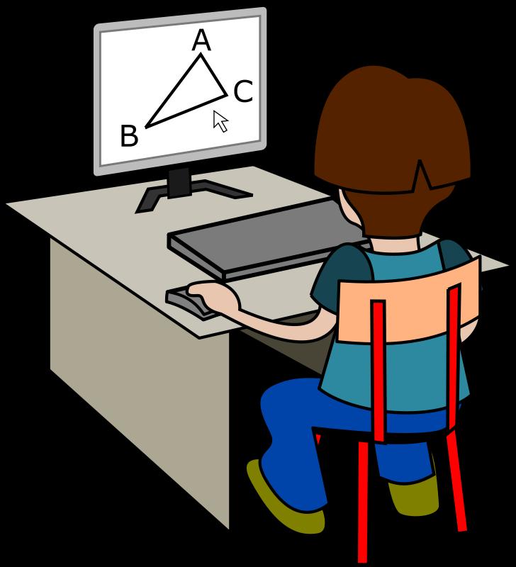 Free Élève devant un ordinateur.