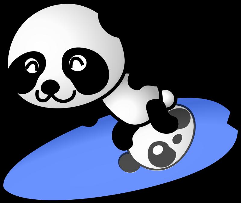 Free surfer panda