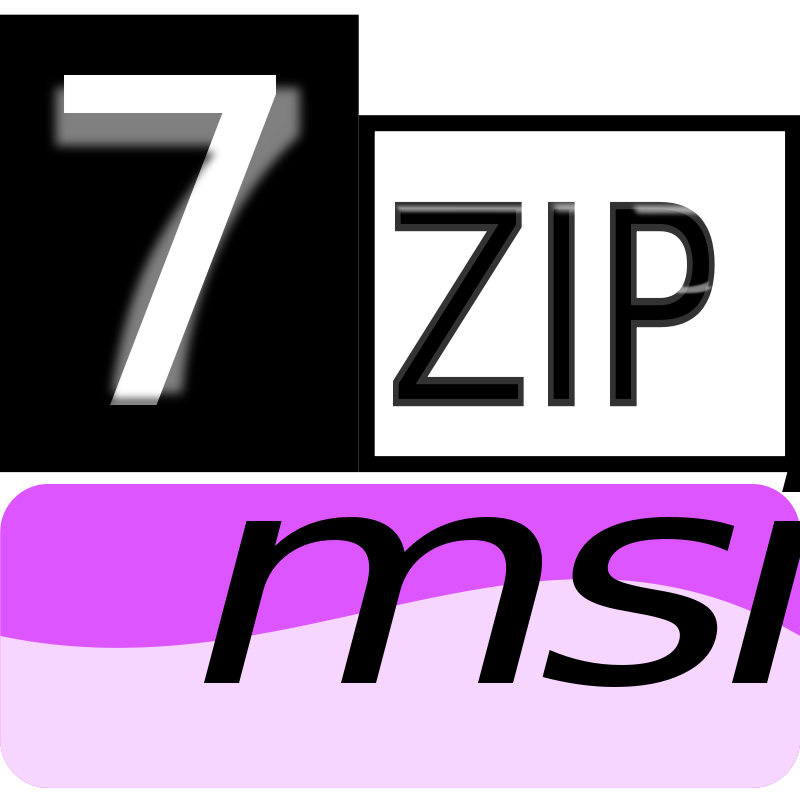 Free Clipart: 7zipClassic-msi | kg