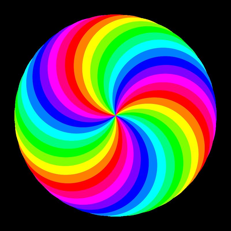Free 36 circle swirl 12 color