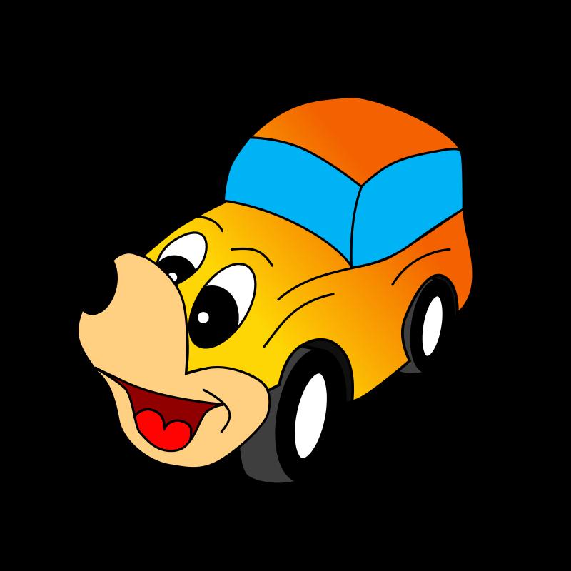 Free Comic yellow car