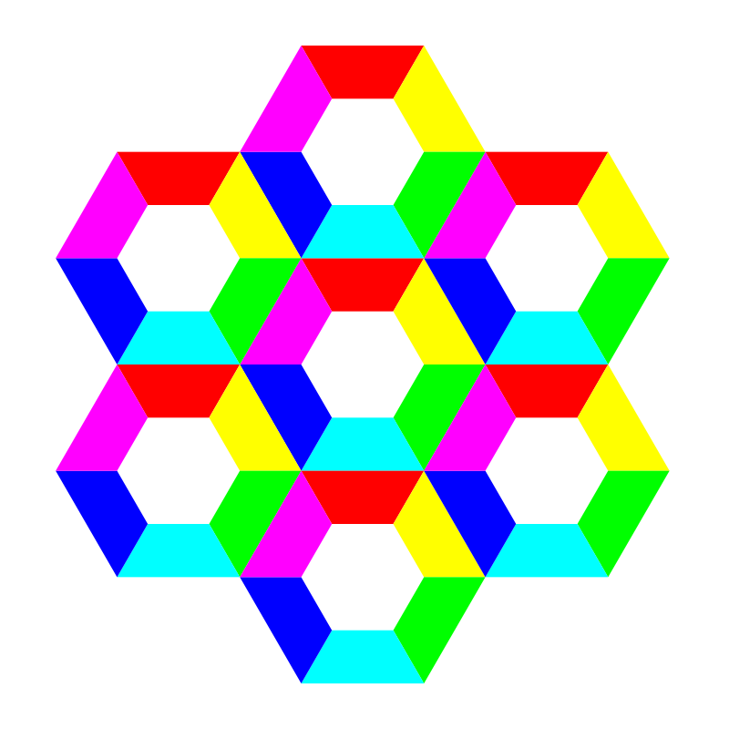 Free half hexagon fun