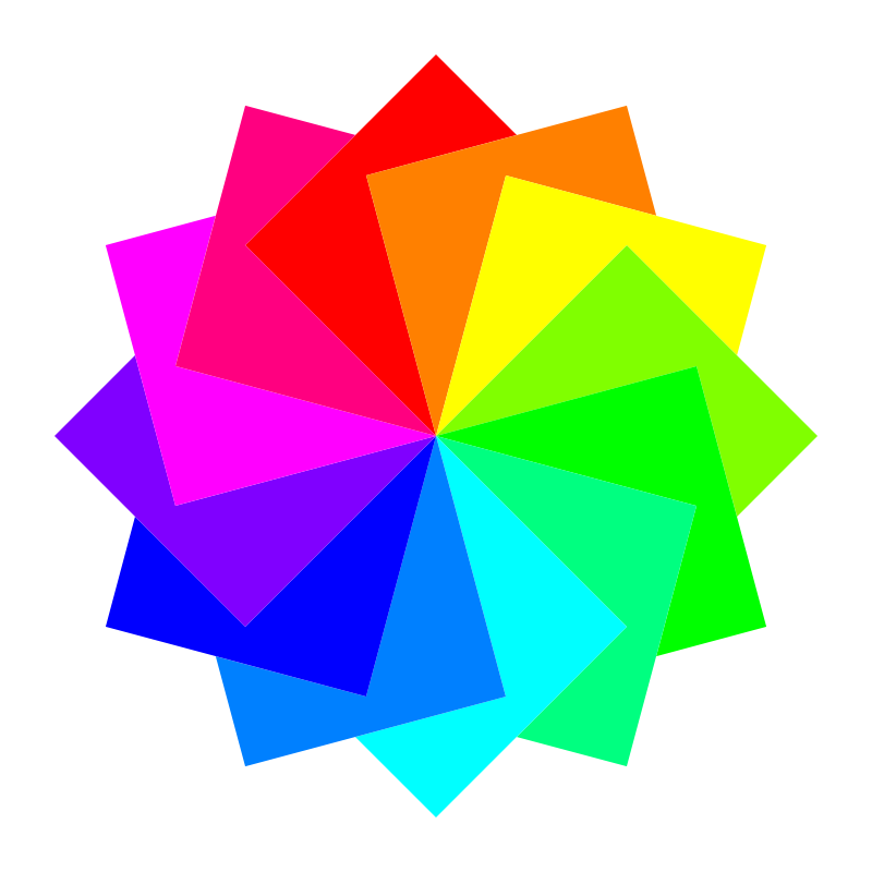 Free 12 square dodecagram