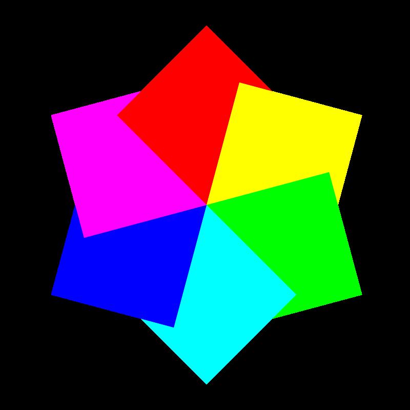 Free 6 squares hexagram