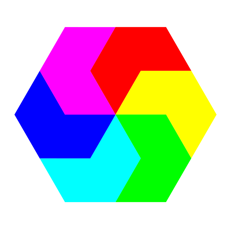 Free pacman hexagons