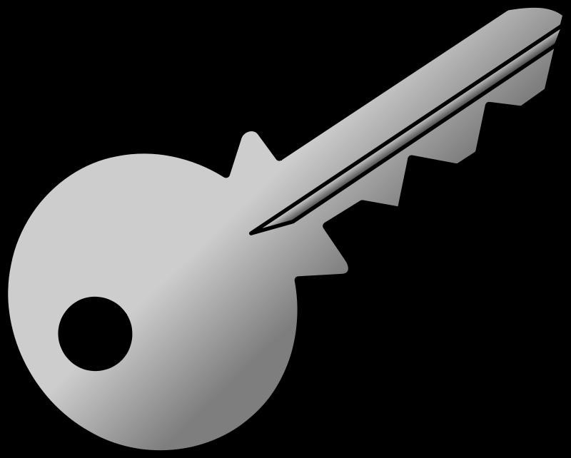 Free grey-shaded key