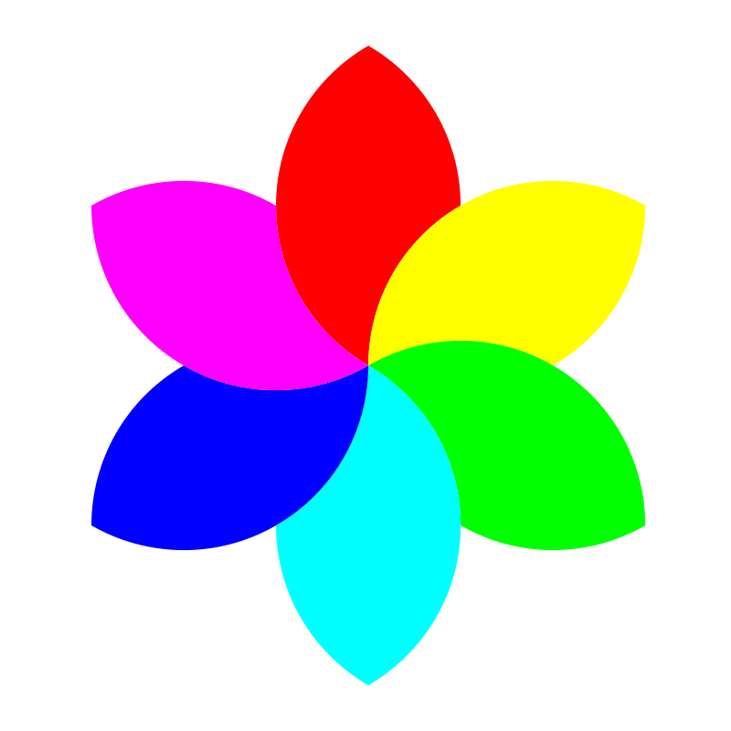 Free 6 color football flower remix