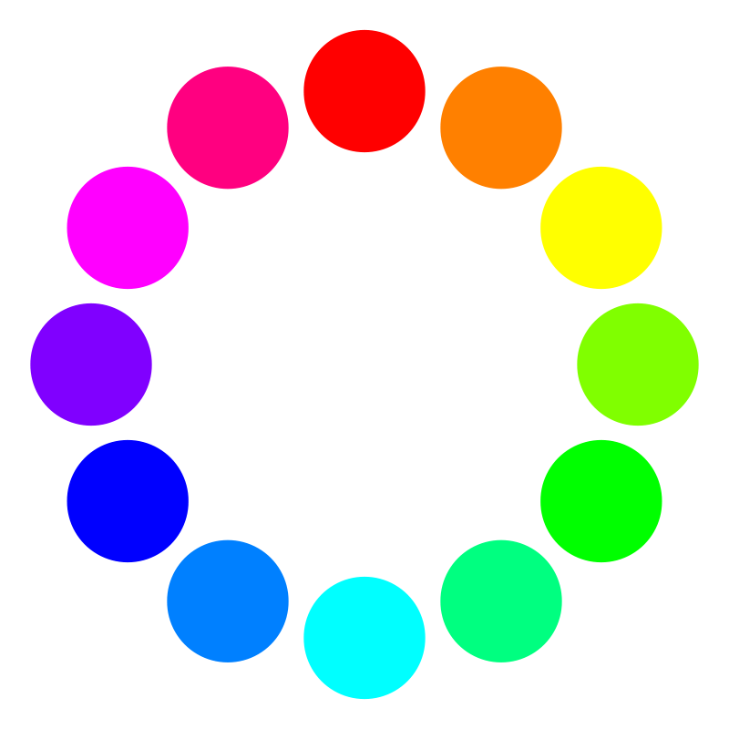 Free 12 color circles