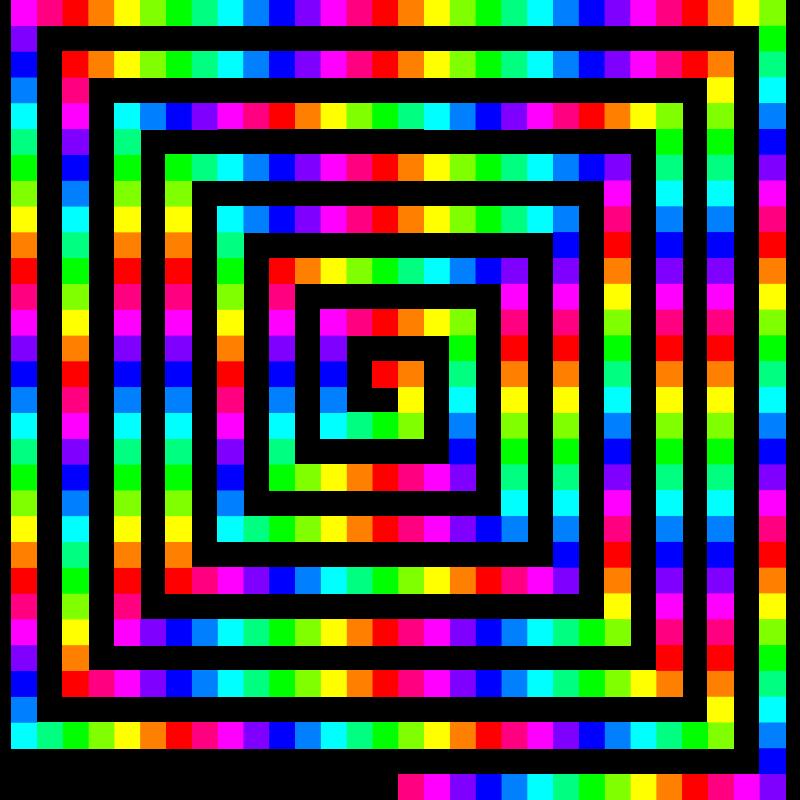 Free 12 color 480 square spiral