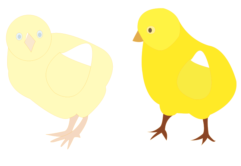 Free chicks-figure-color
