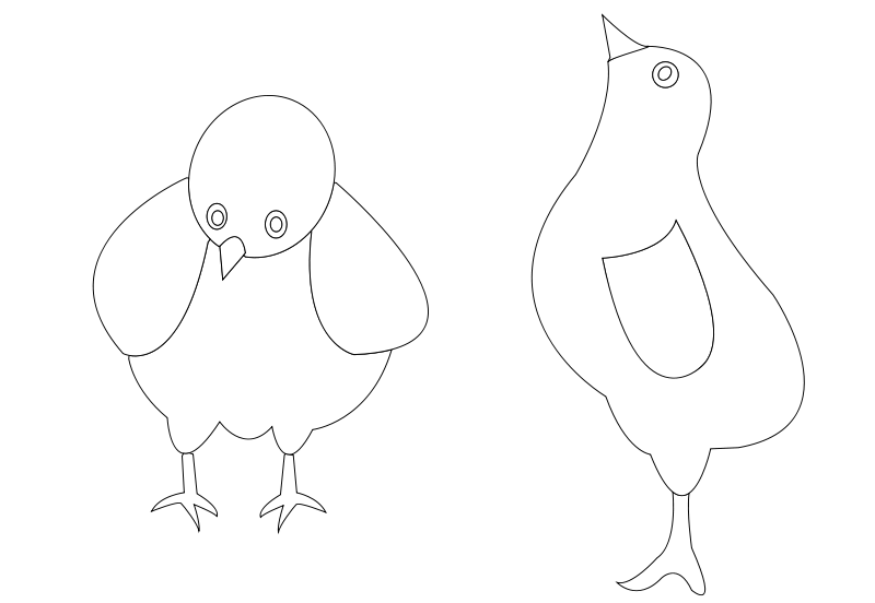 Free chickens-001-vector-coloring