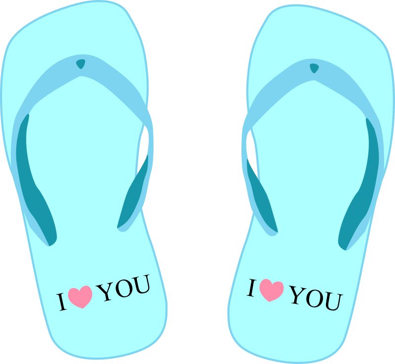 "Free Thong light blue with ""I love you"""
