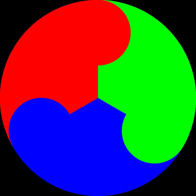 Free 3 color yinyang