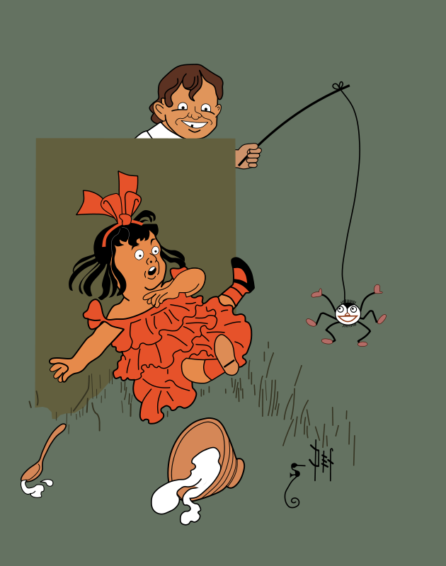 Free Little Miss Muffet - Denslow