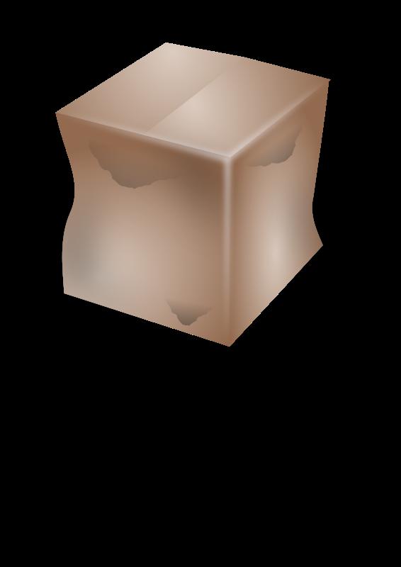 Free dirty cardboard box