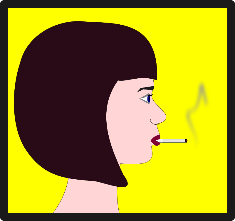 Free Woman with Cigarette