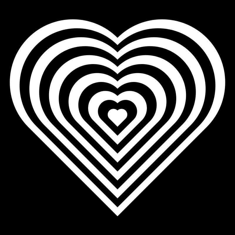Free geometric zebra heart