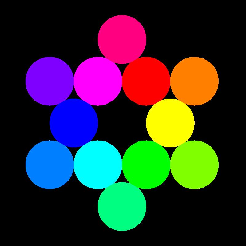 Free 13 circles rainbow