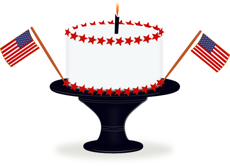 Free Clipart: Happy Birthday America | laurianne