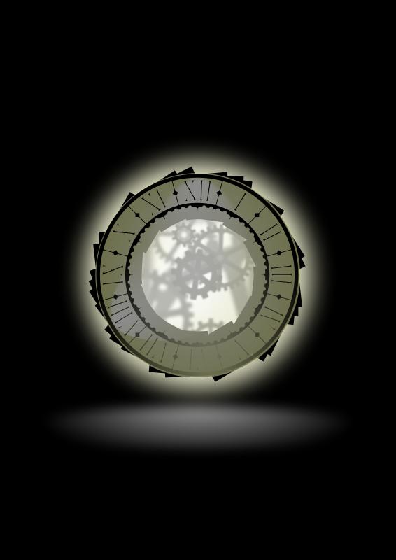 Free City Hall clock-SVG standard