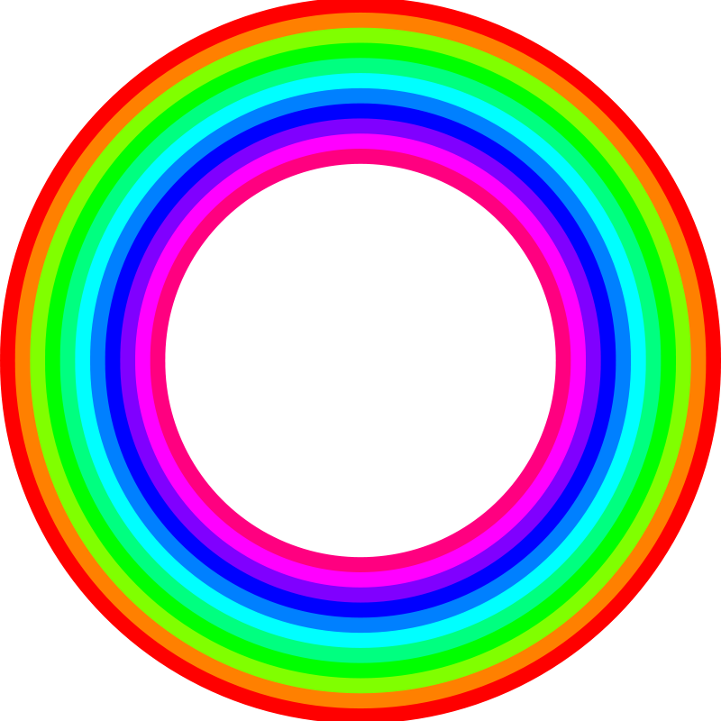 Free 12 color rainbow donut