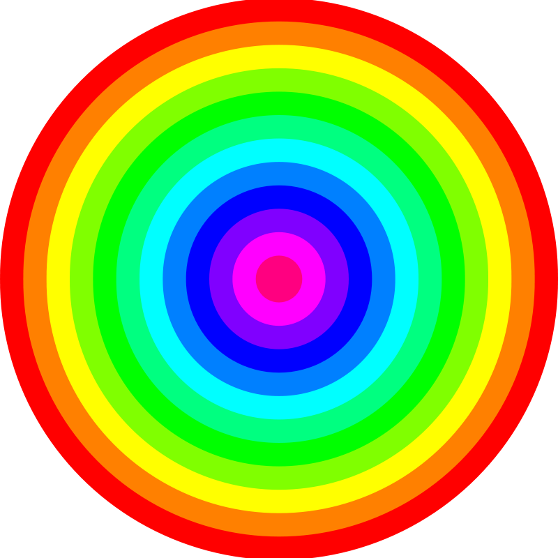 Free 12 color rainbow circles