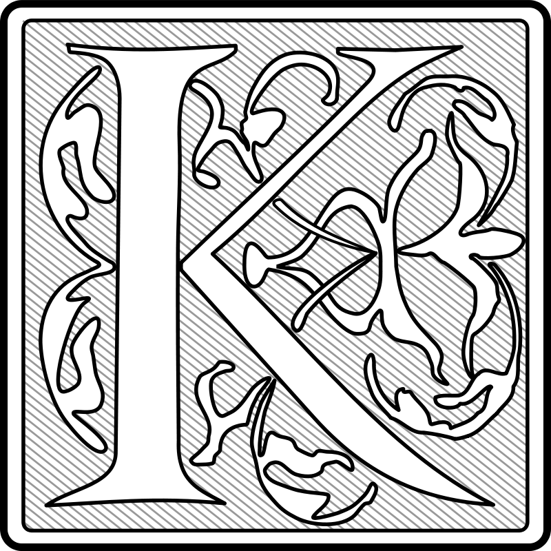 Free Capital Letter 'K' (Initial)