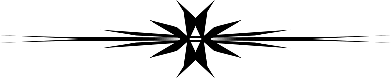 Free Muster 43e Vierarmiger Stern gestreckt - Bordüre