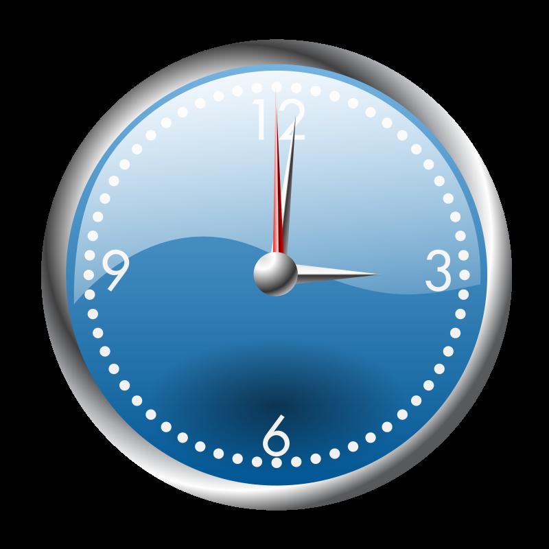 Free A blue and chrome clock
