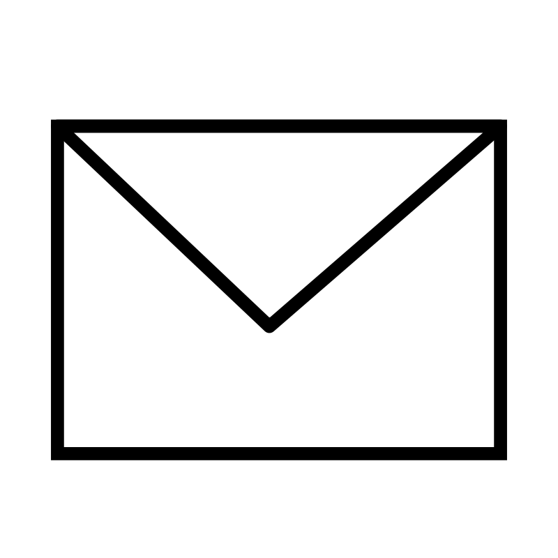 Free Envelope Closed B&W