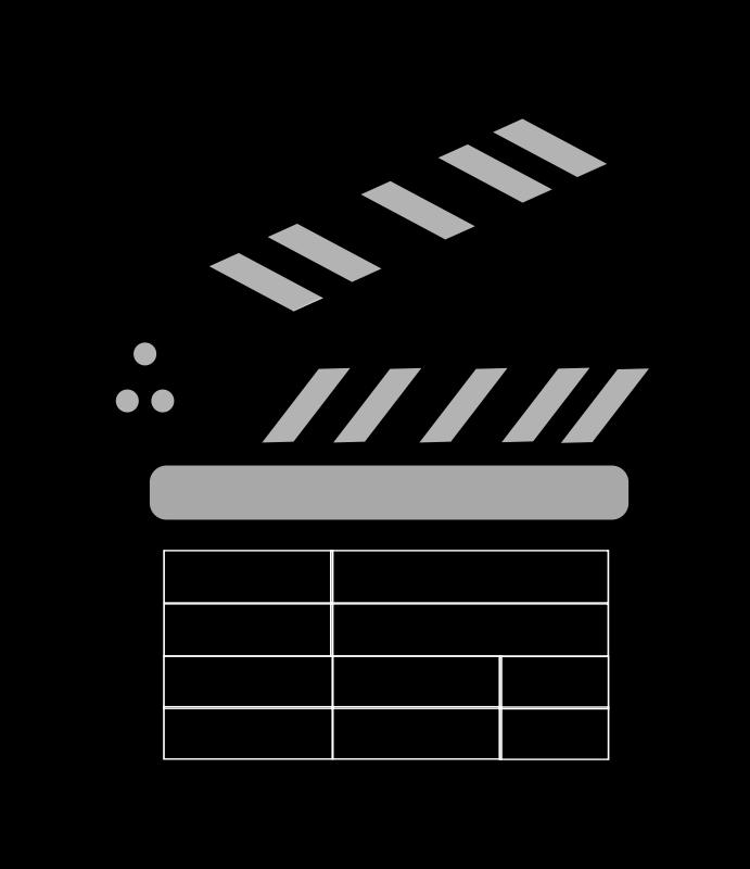 Free Movie clapper Board