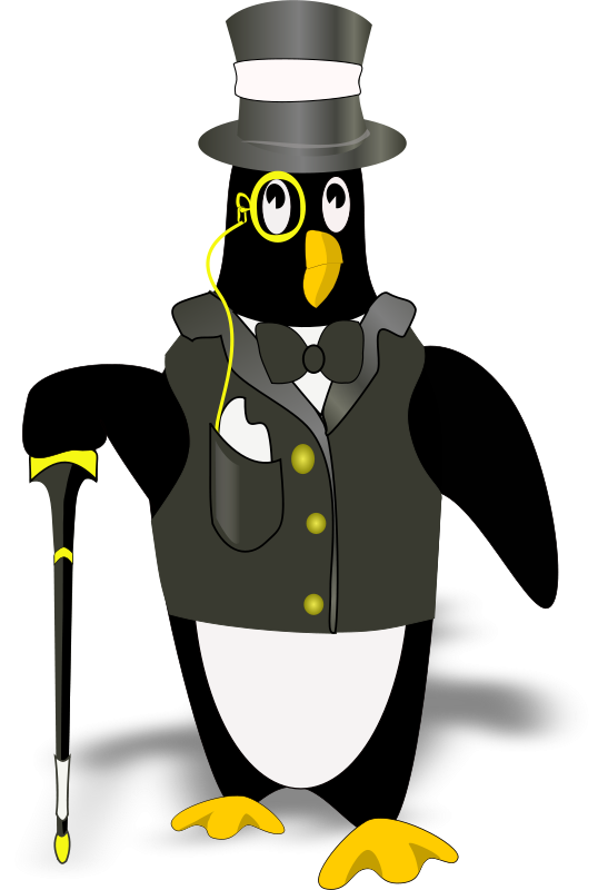 Free penguin in tux(bordered correctly)