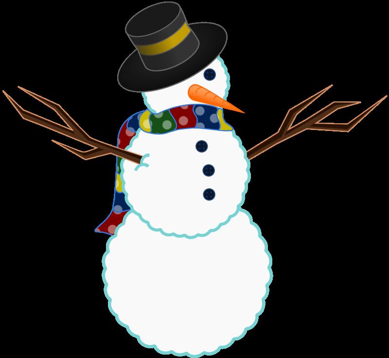 Free A scarfed Snowman