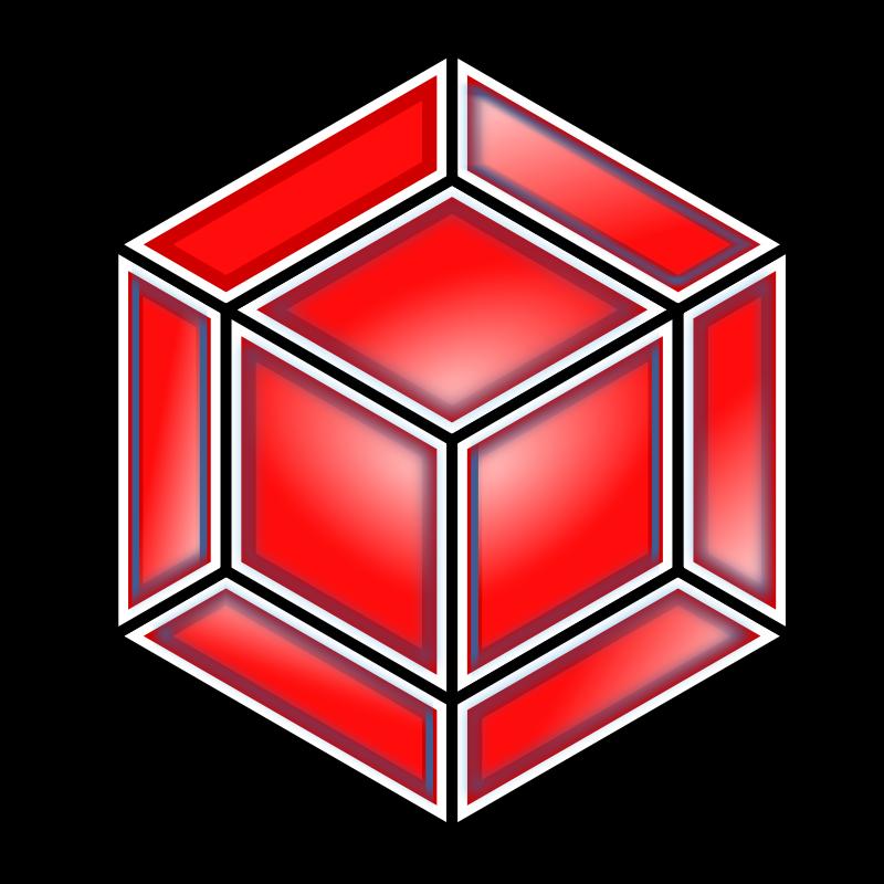 free clipart hyper cube red bnielsen