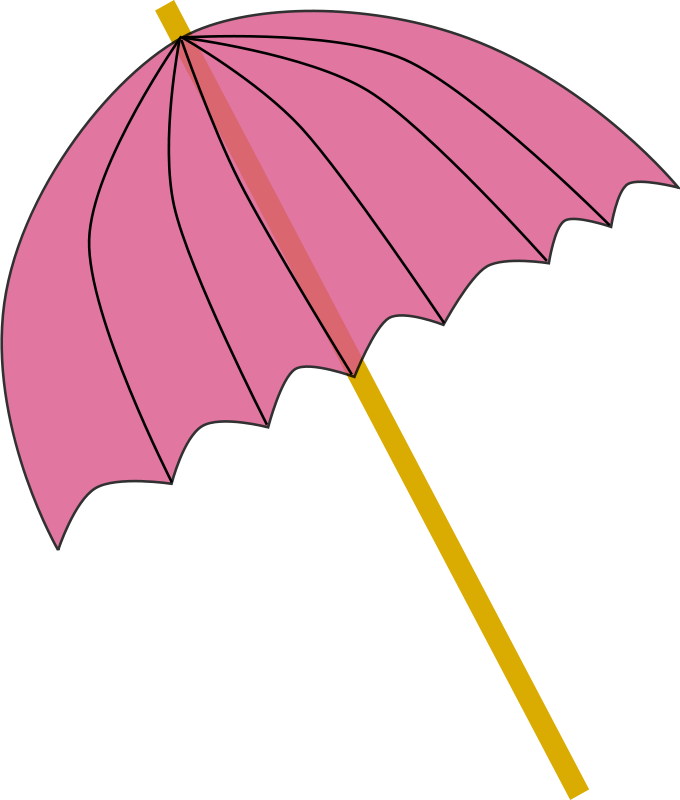 Free Umbrella / Parasol pink tranparent