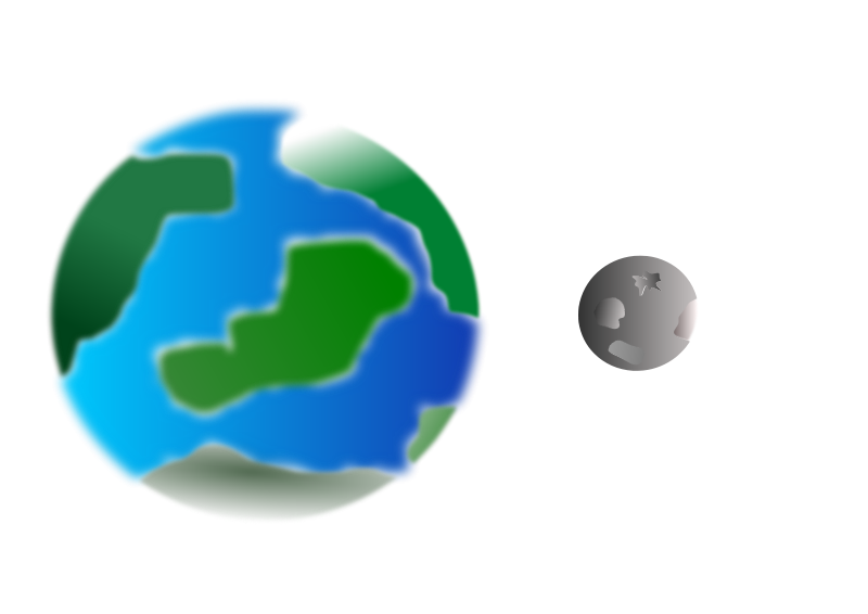 Free Planet with moon