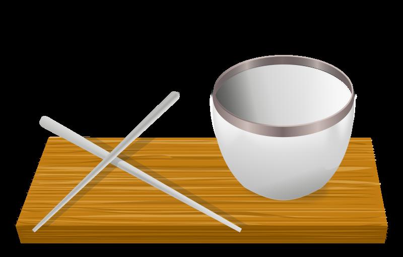 Free Rice bowl with chopsticks