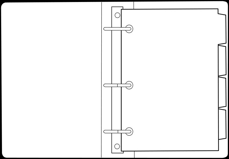 Free open binder