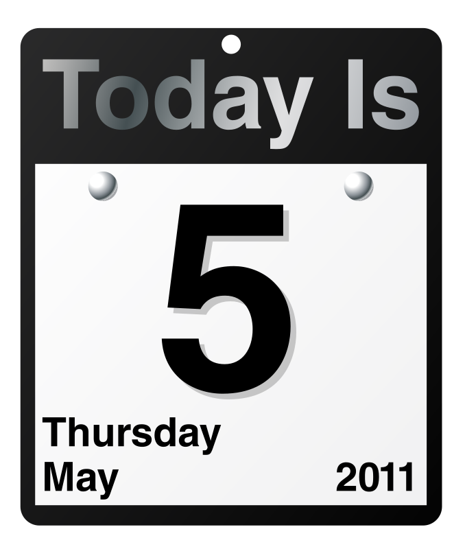 """Free """"Today Is"""" calendar"""