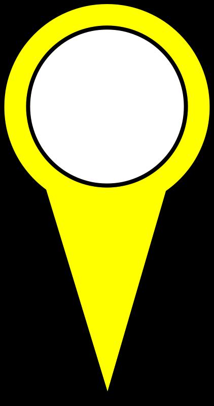 Free Yellow Map Pin