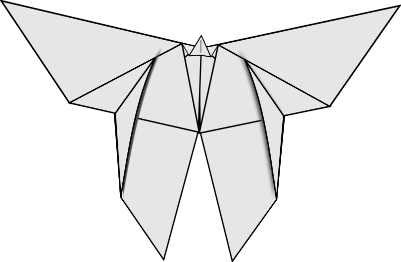 Free Origami Butterfly