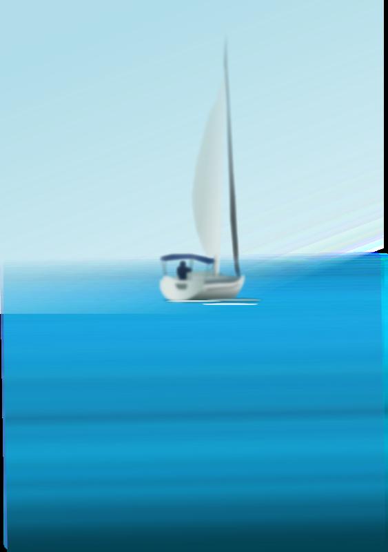 Free Boat at Sea