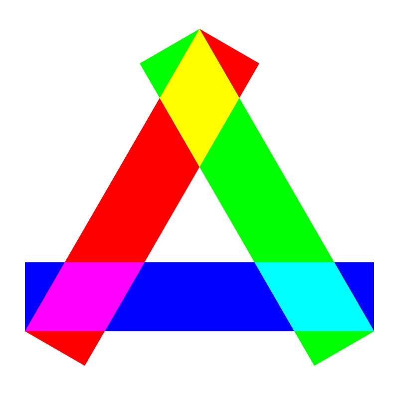 Free rgb long rectangles triangle
